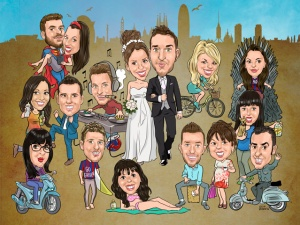 caricatures barcelona